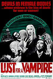Lust for a Vampire 1971 Cover