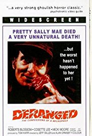Deranged: Confessions of a Necrophile 1974 Cover